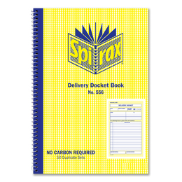 Spirax No.556 Delivery docket Book Carbonless duplicate No556 207x144mm 40898