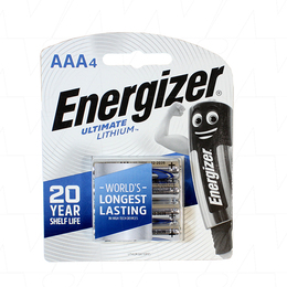 Energizer Ultimate Lithium Battery AAA 1.5V L92-BP4