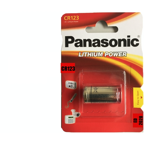 10 Panasonic CR123 Batteries CR-123A Photo Lithium
