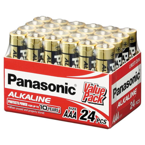 24 Panasonic Alkaline AAA Battery LR03 Industrial